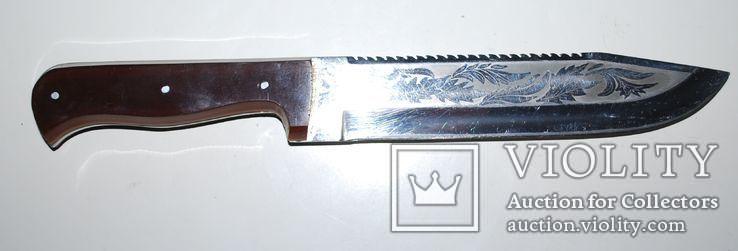 Нож ручной работы, гравировка - общ.разм. 30,5 см., фото №3