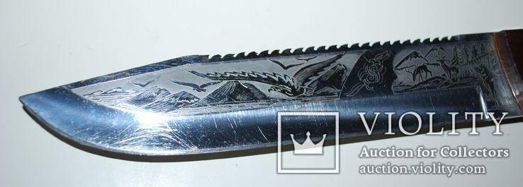 Нож ручной работы, гравировка - общ.разм. 30,5 см., фото №10