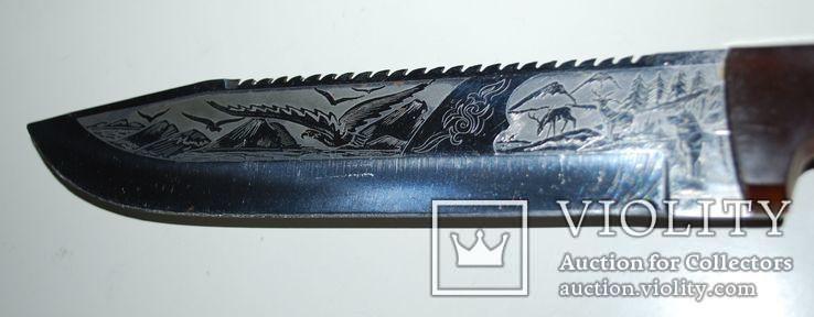 Нож ручной работы, гравировка - общ.разм. 30,5 см., фото №11