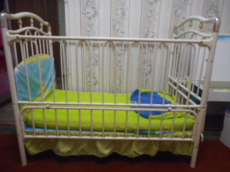Кроватка детская Металлическая Geoby, фото №3