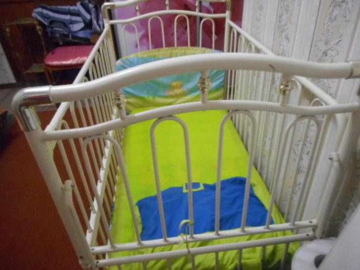 Кроватка детская Металлическая Geoby, фото №6