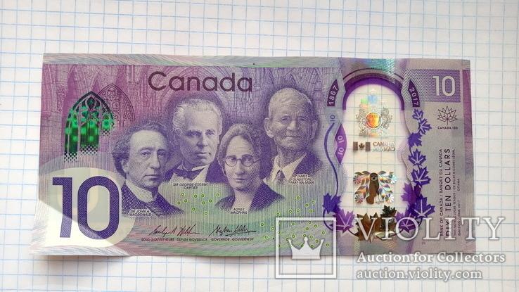 10 долларов Канады юбилейные., фото №2