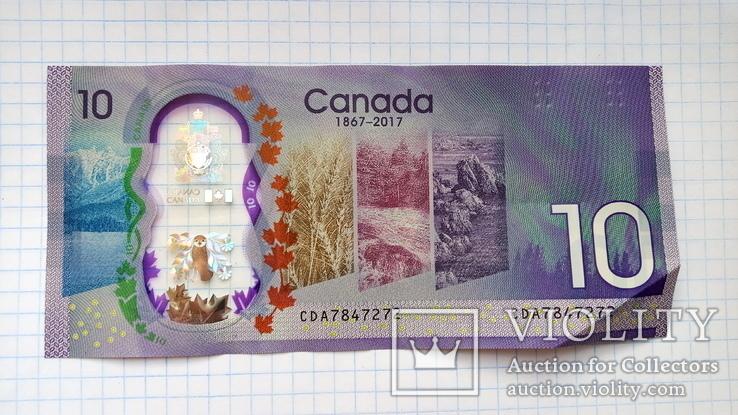 10 долларов Канады юбилейные., фото №3
