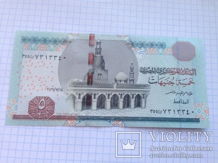 5 фунтов Египет, анц., фото №2
