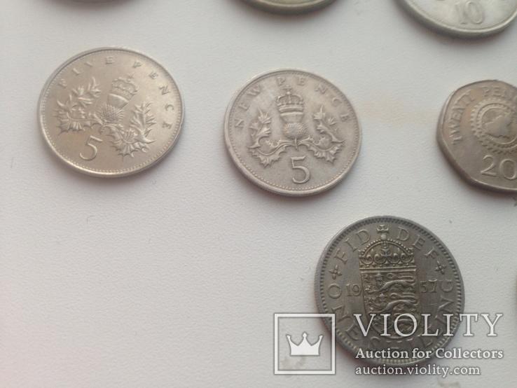 """Старые """"новые"""" пенсы Британии, шиллинги, пенсы Гернси  и др., фото №5"""