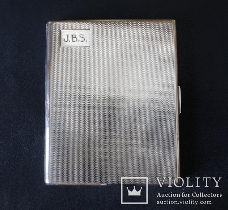 Портсигар 1921 год. Серебро 925. 160 грамм, фото №2