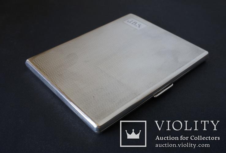 Портсигар 1921 год. Серебро 925. 160 грамм, фото №4