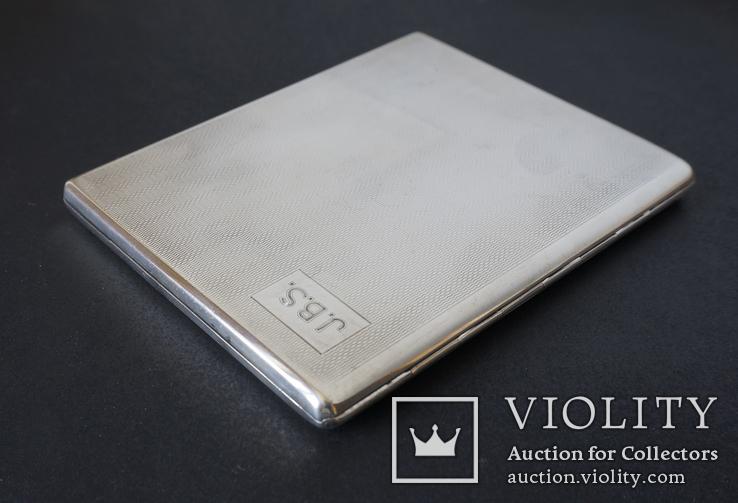 Портсигар 1921 год. Серебро 925. 160 грамм, фото №6