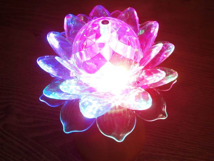 Ночник - цветок LED Ball Light RHD-21 Светодиодная лампа-проектор, фото №2