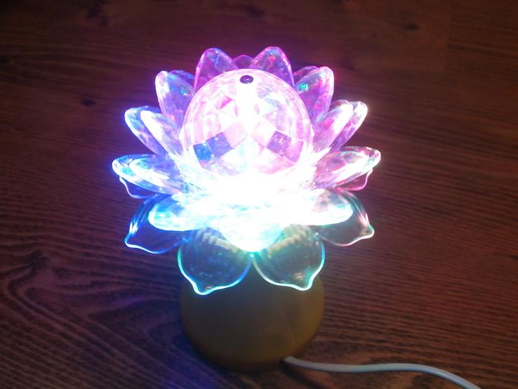 Ночник - цветок LED Ball Light RHD-21 Светодиодная лампа-проектор, фото №3