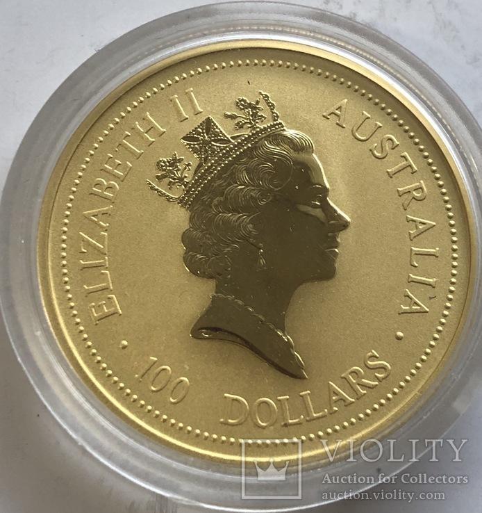 100 $ 1996 год Австралия лунар «Год Мышки» золото 31,1 грамм 999,9', фото №3