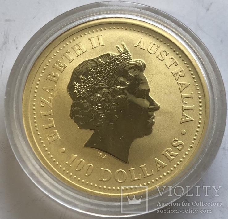 100 $ 2004 года Австралия лунар «Год Обезьяны» золото 31,1 грамм 999,9', фото №3