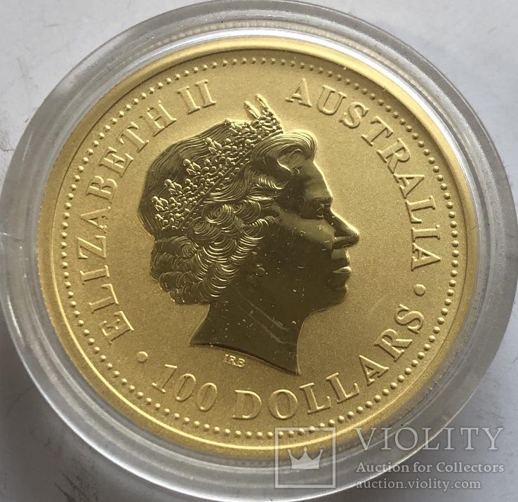 100 $ 2003 года Австралия лунар «Год Козы» золото 31,1 грамм 999,9', фото №3