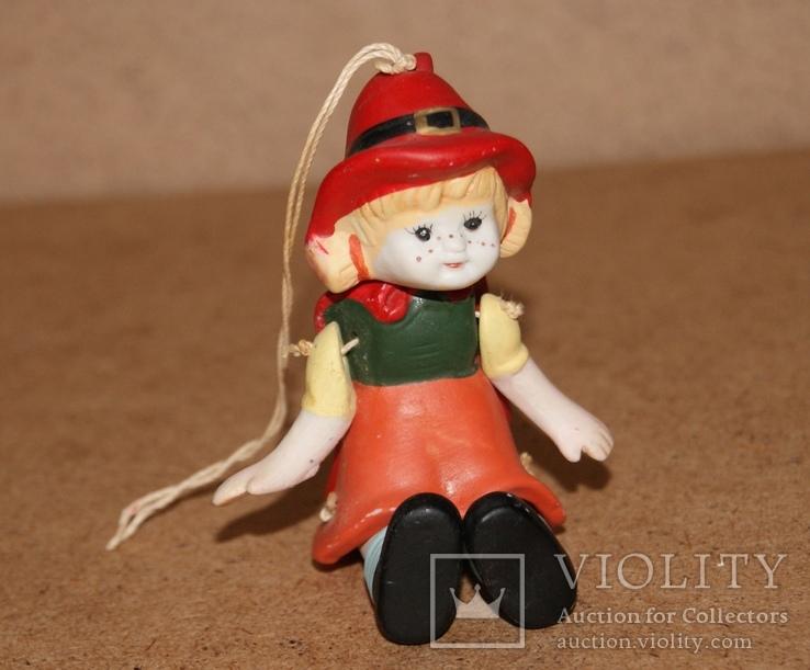 Красная Шапочка, керамика, подвижная, марионетка, фото №2