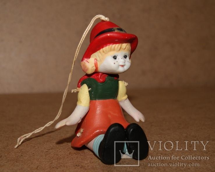Красная Шапочка, керамика, подвижная, марионетка, фото №8