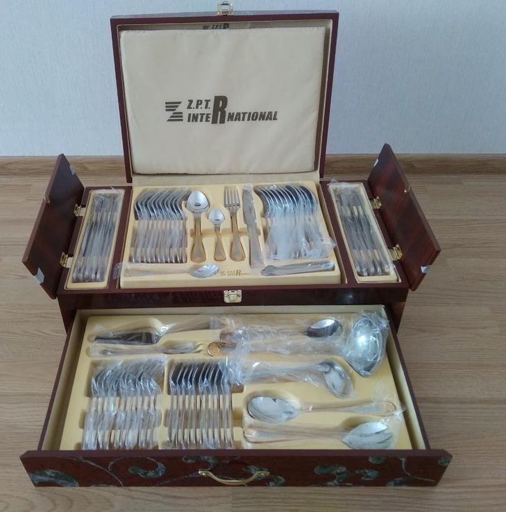 Набор столовых приборов в кейсе, сундуке ZPTR 72 шт., фото №4