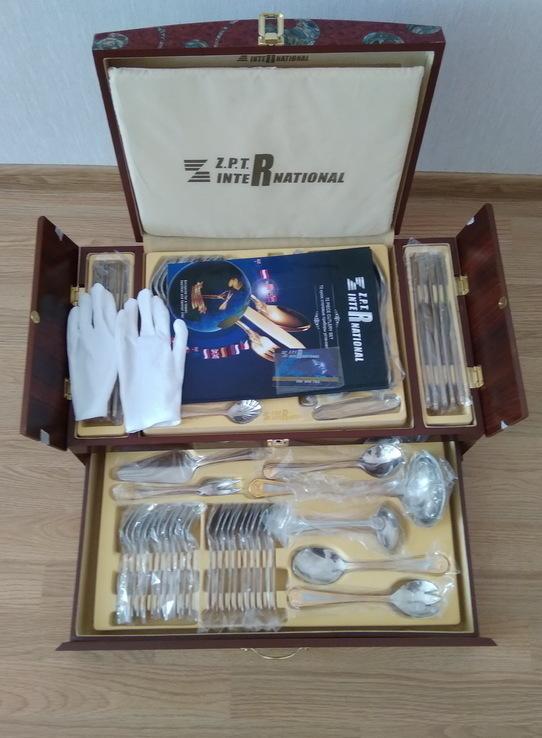 Набор столовых приборов в кейсе, сундуке ZPTR 72 шт., фото №6