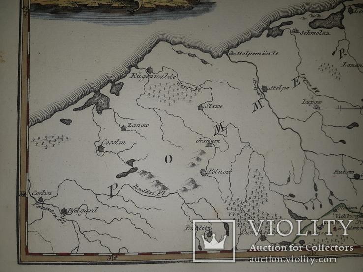 Карта Померании 18 века, фото №4