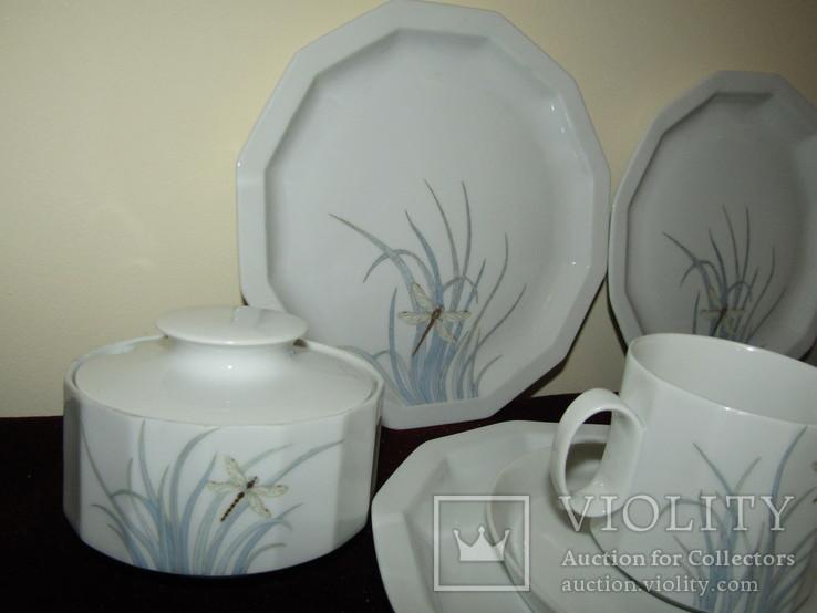 Сервиз чайник блюдца чашки тарелки сахарница тонкий фарфор Rosenthal Розенталь Германия, фото №4