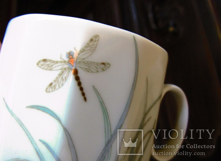Сервиз чайник блюдца чашки тарелки сахарница тонкий фарфор Rosenthal Розенталь Германия, фото №12