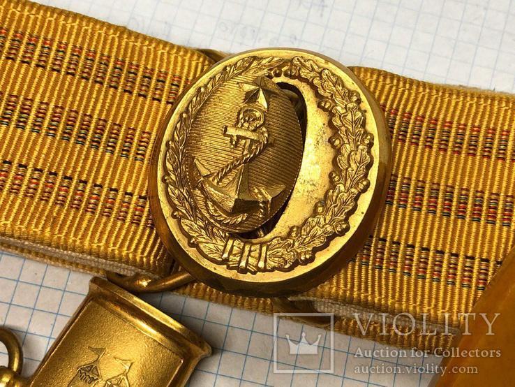 Кортик ВМФ СССР адмиральский с подвесами львы (супер), фото №12
