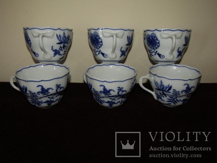 Чашки мейсенский дизайн фарфор синий лук Zwiebelmuster Богемия, фото №7