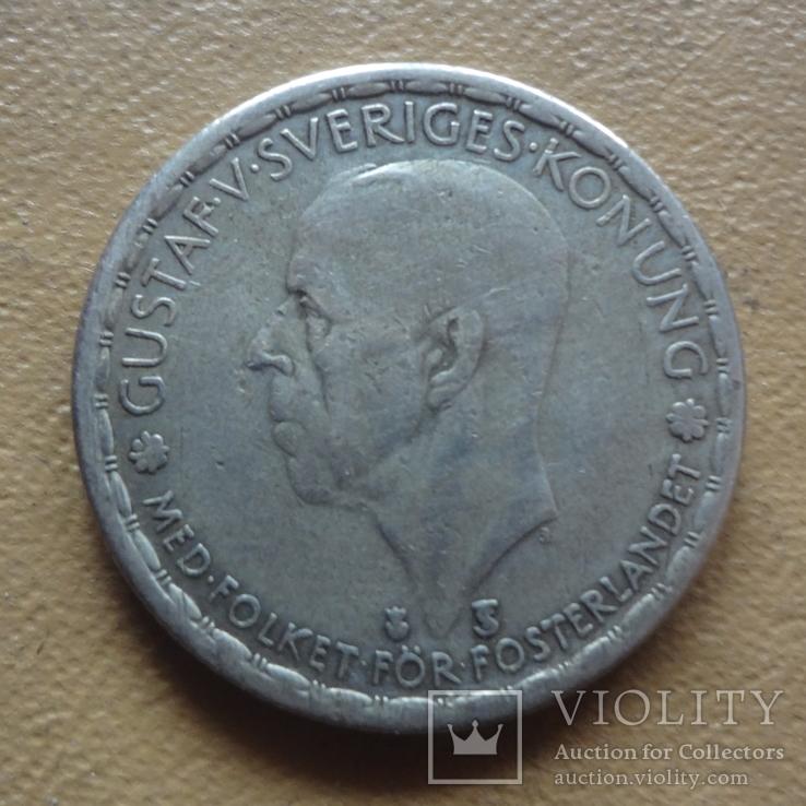 1 крона 1950 Швеция серебро (М.8.35), фото №3