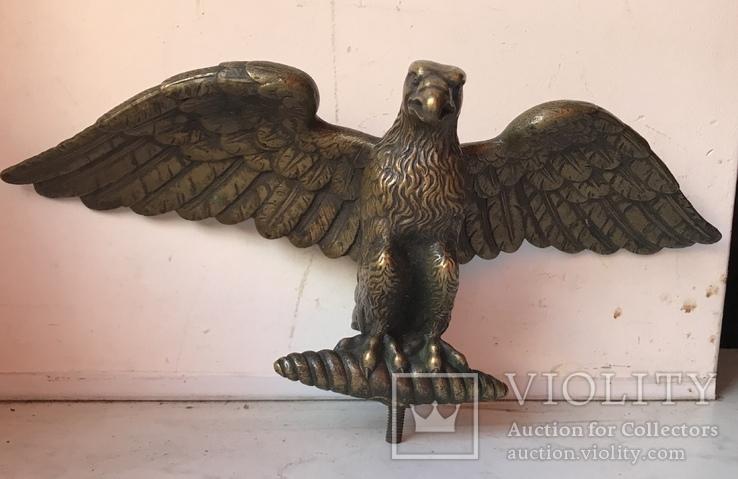Фигура Бронза птица орёл Верхушка на каминные часы, фото №2