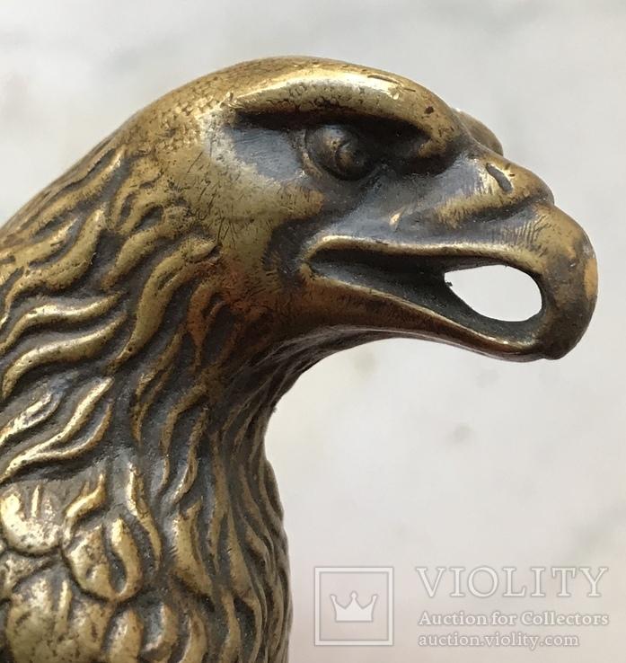 Фигура Бронза птица орёл Верхушка на каминные часы, фото №6