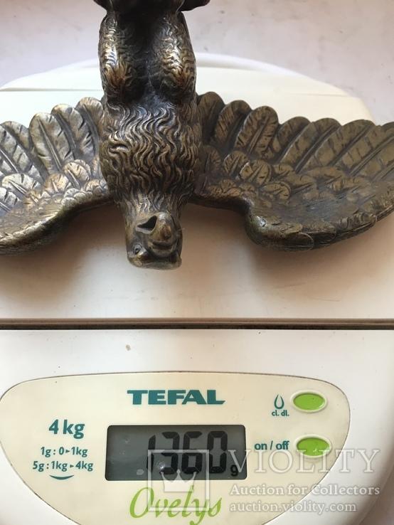 Фигура Бронза птица орёл Верхушка на каминные часы, фото №10