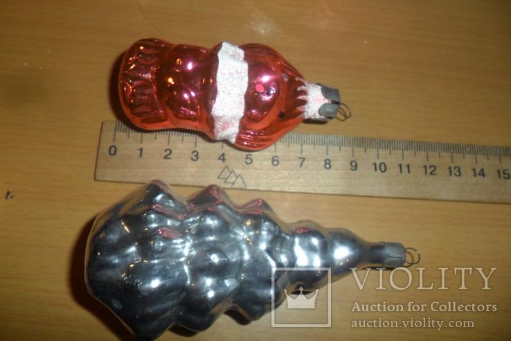 Ёлочная игрушка 7 шт в лоте домик собака девочка человек, фото №5