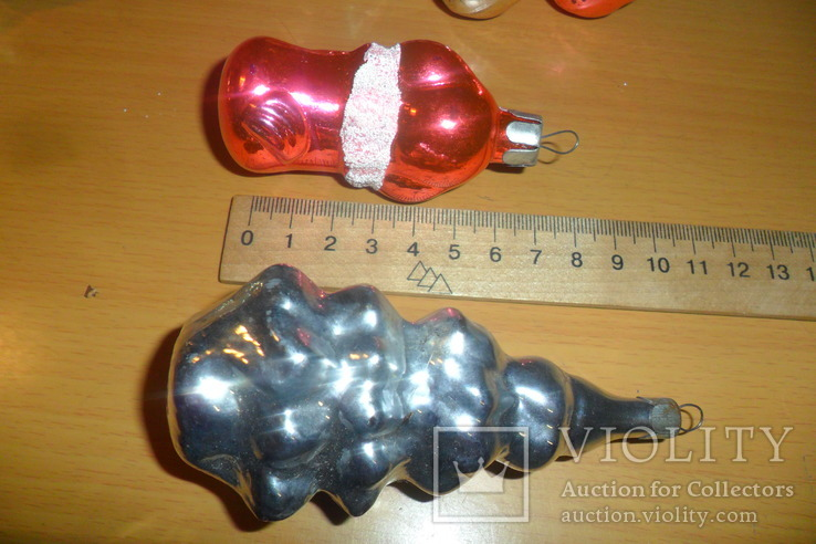 Ёлочная игрушка 7 шт в лоте домик собака девочка человек, фото №6