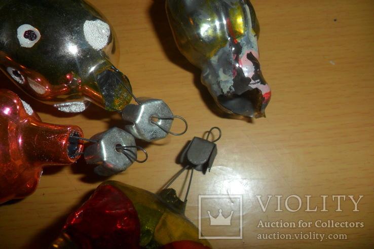 Ёлочная игрушка 7 шт в лоте домик собака девочка человек, фото №12