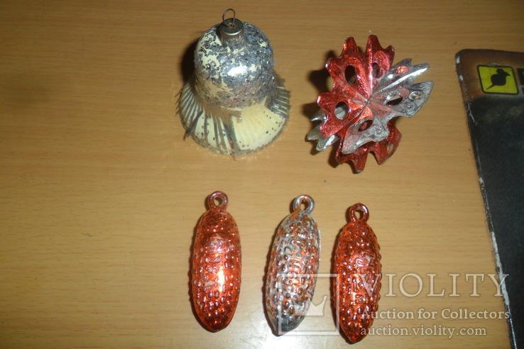 Елочная игрушка 5 штук в лоте пластик, фото №2