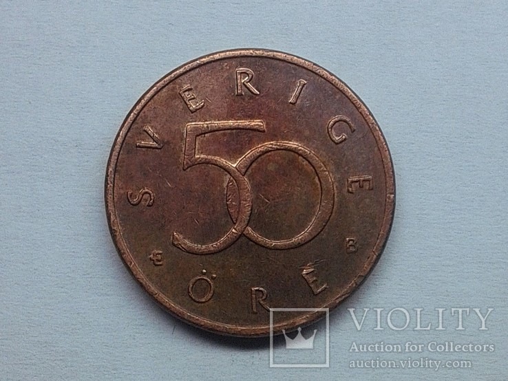 Швеция 50 эре 2001, фото №2