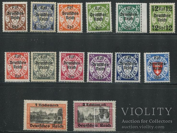 1939 Рейх Данциг 716 - 729 полная серия MNH / MH