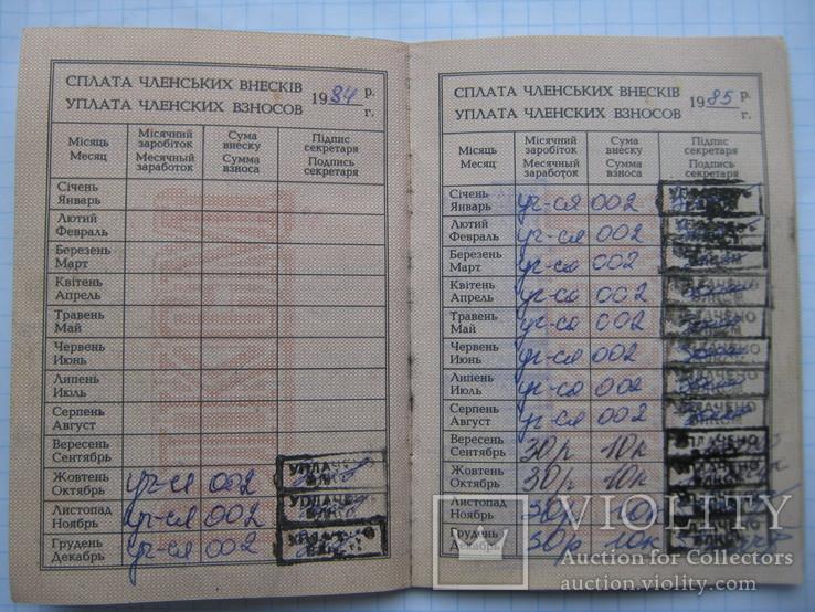 Комсомольский Билет + Памятка Члену ВЛКСМ., фото №4