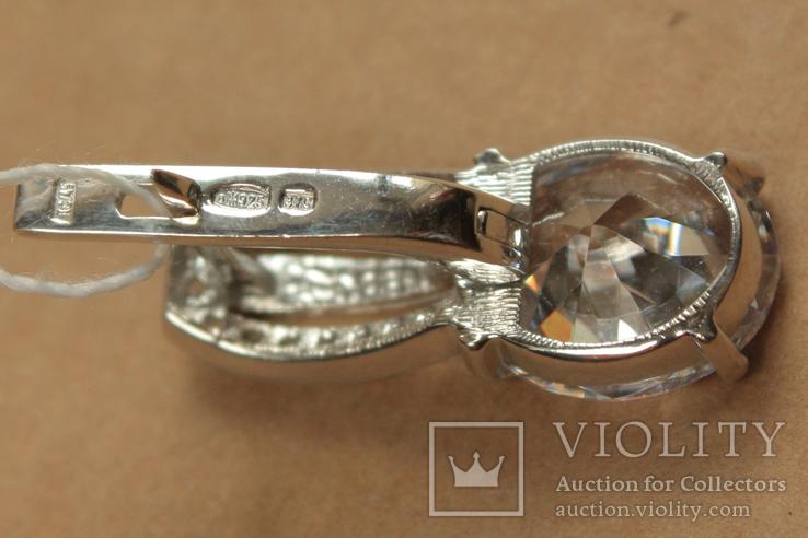 Серьги серебро, золото, фото №6