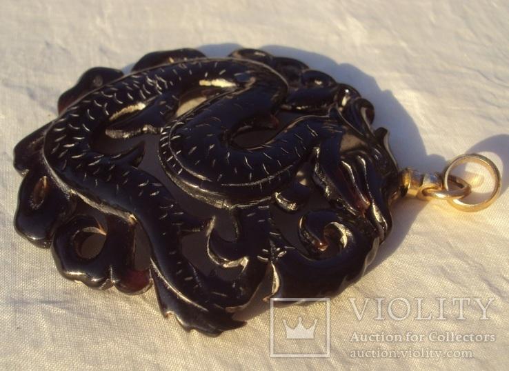Кулон резной черепаховый панцирь., фото №8