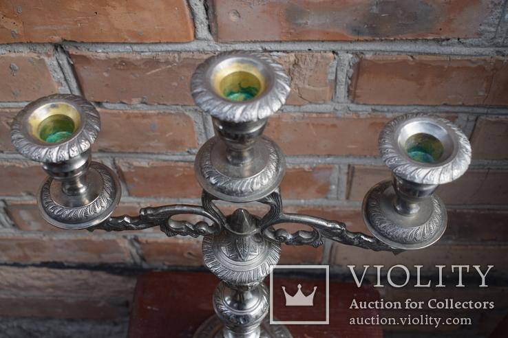 Канделябр на три свечи. Европа, фото №3