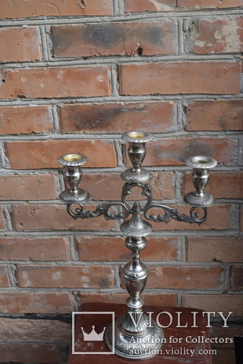 Канделябр на три свечи. Европа, фото №4