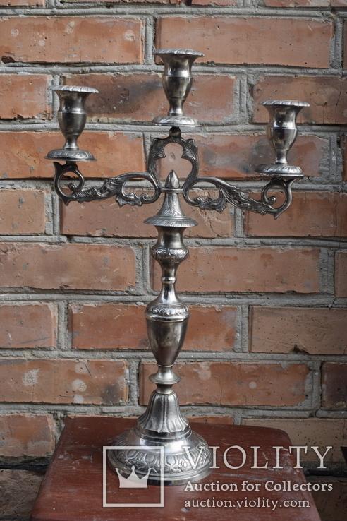 Канделябр на три свечи. Европа, фото №5
