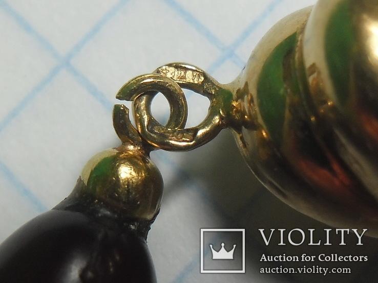 Бусы  золото , бакелит., фото №7