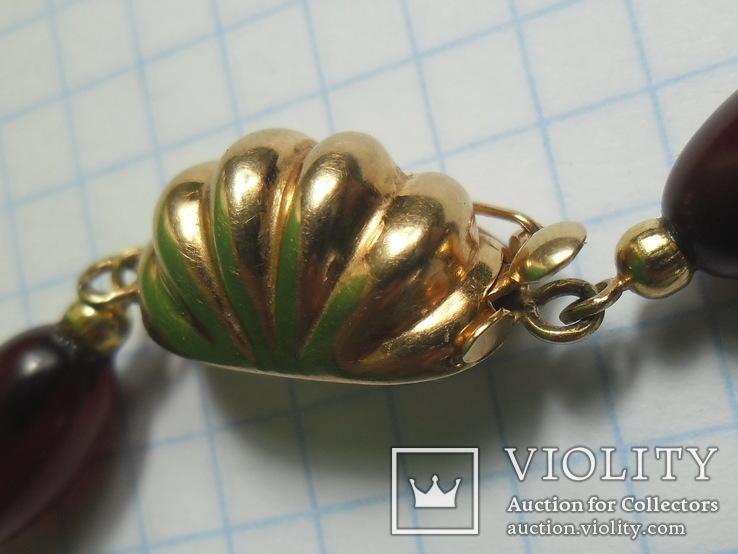 Бусы  золото , бакелит., фото №11
