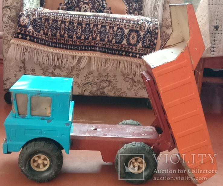 Металлический грузовик Белаз Ураган СССР, фото №5