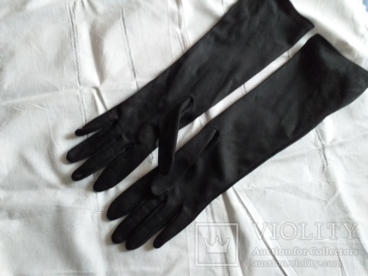 Перчатки черные дамские
