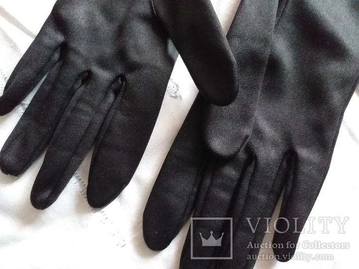 Перчатки черные дамские, фото №3