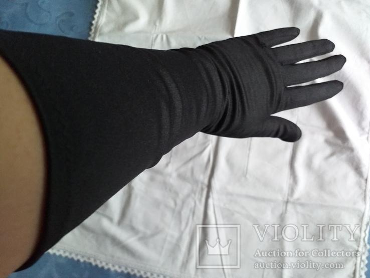 Перчатки черные дамские, фото №5