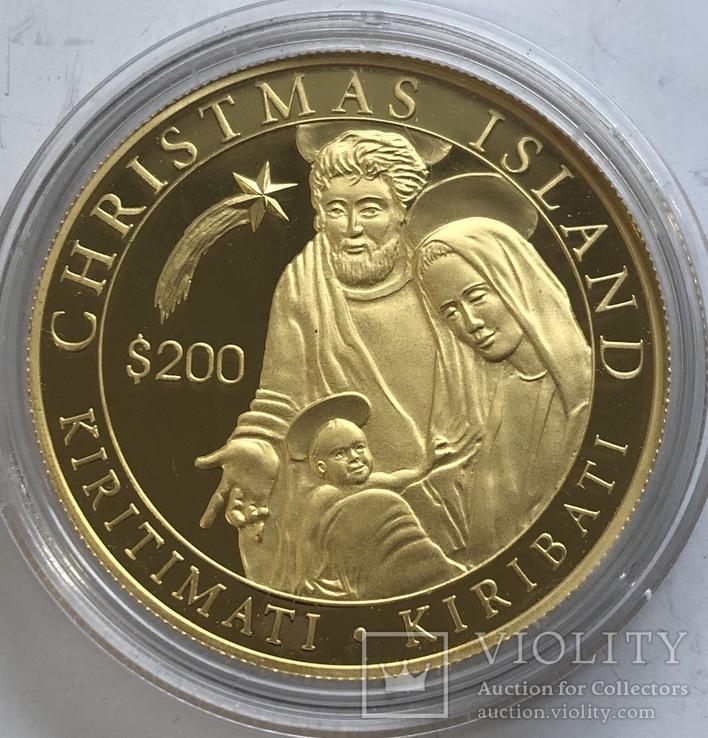 200 $ 2005 год Кирибати золото 31,1 грамм 999,9', фото №2