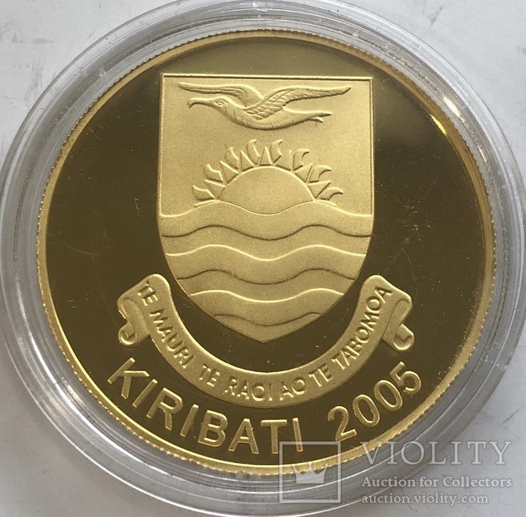 200 $ 2005 год Кирибати золото 31,1 грамм 999,9', фото №3